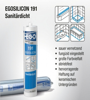 Egosilicon 191 Sanitärdicht - SALE